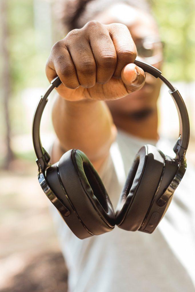 offering headphones